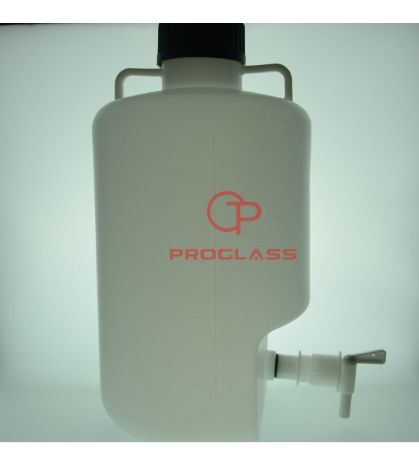 Plastic water bottle with faucet