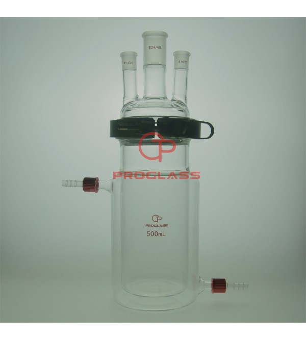 Separate Jacket Reactor,Three Necks with Easy Open PTFE Clamp