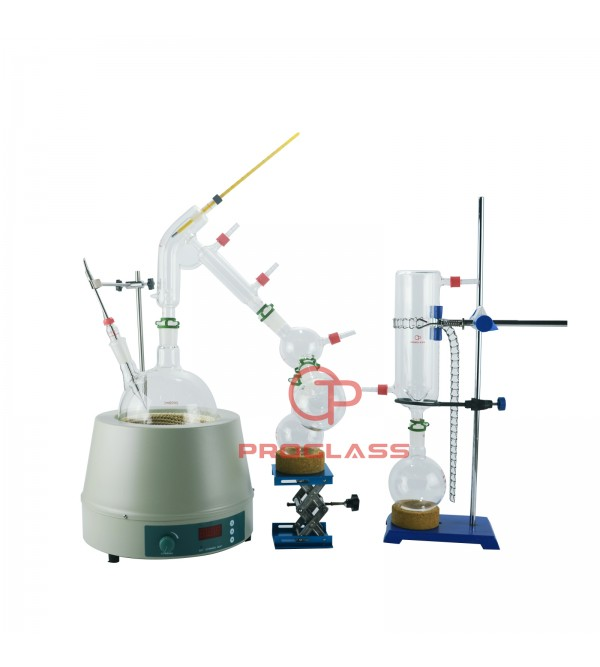 Short Path  2L Distillation Kit With Display Magnetic Heating Mantle